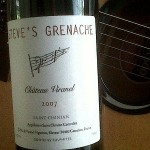 Steve&#8217;s Grenache &#8211; and The Grape Escape