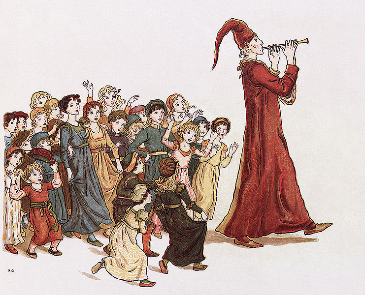 Illustration from The Pied Piper of Hamlin