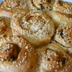 Garlic Rolls with Sesame and Coriander