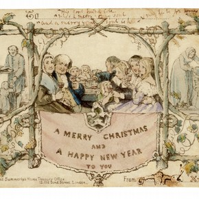Christmas Card, designed by J.C. Horsley for Sir Henry Cole, 1843