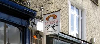 rainbow cafe sign