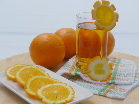 spiced orange and apple tea