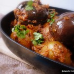 Baby Potatoes with Oat Stuffed Aubergine