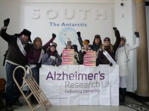 Alzheimer's Research UK staff at Polar Musuem