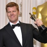 "Director John Kahrs awarded best animated short film for ""Paperman"" at the 2013 Oscars"
