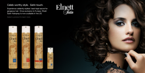 Cruz in L'Oreal Elnett Satin ad