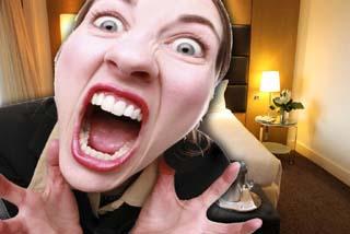 angry hotel room