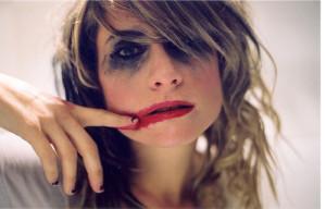 smeared makeup