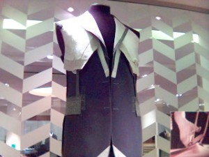 A fused sample in the Austin Reed window